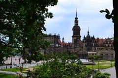 Katholische Hofkirche i Dresden Royaltyfria Bilder