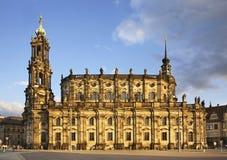 Katholische Hofkirche i Dresden germany Fotografering för Bildbyråer