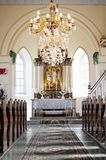 Katholische Innenkirche in Slowakei lizenzfreie stockbilder