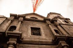 Katholische Kathedrale Belvedere-Palast in Wien Manila, Philippinen stockbild