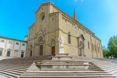 Katholische Kathedrale in der Stadt von Arezzo Italien Lizenzfreies Stockfoto