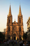 Katholische Kathedrale des heiligen Herzens im Guanzhou China Lizenzfreies Stockbild