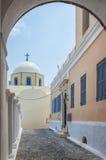 Katholische Kathedrale 06 Fira Lizenzfreies Stockfoto