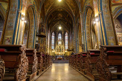 Katholische Kathedrale nach innen Lizenzfreies Stockbild