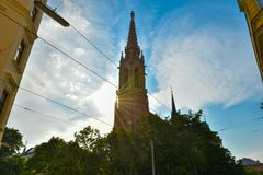Katholische Kirche dans Kolonitzplatz, Vienne, Autriche Photo stock