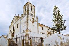 Katholische Kirche in der alten Stadt von Lagos, Algarve Region, Portug Stockbilder