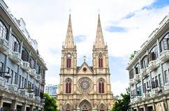 Katholische Kirche in Guangzhou, China Stockfotografie
