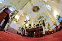 Katholische Kirche im vilage Stefultov lizenzfreie stockbilder