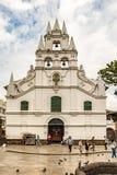Katholische Kirche La-Veracruz und die einzige Kolonialartkirche I Stockfotos