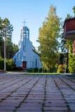 Katholische Kirche St. Pauliaus Apostol in Visaginas Litauen stockbilder