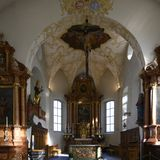 Katholische Kirche von schlechtem Ragatz, die Schweiz stockbild