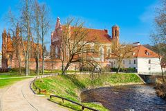 Katholische Kirche von St Anna in Vilnius ist eine katholische Kirche, Fa stockbilder