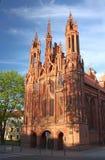 Katholische Kirche von St Anne in Vilnius Stockfotografie