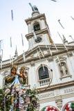Katholische Prozession zu Ehren unserer Dame Achiropita stockfotografie
