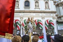 Katholische Prozession zu Ehren unserer Dame Achiropita lizenzfreies stockbild
