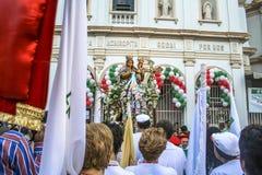 Katholische Prozession zu Ehren unserer Dame Achiropita lizenzfreies stockfoto