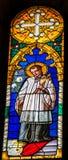 Katholischer Prest Stained Glass Baptistery Cathedral Pisa Italien lizenzfreies stockfoto