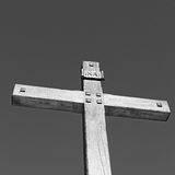 katholisches abstraktes heiliges Kreuz in Italien Europa und der Himmel Lizenzfreies Stockfoto