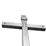 katholisches abstraktes heiliges Kreuz in Italien Europa und der Himmel Lizenzfreie Stockbilder