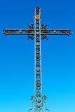 katholisches abstraktes heiliges Kreuz und der Himmel Lizenzfreie Stockfotografie