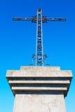 katholisches abstraktes Kreuz in Italien-Hintergrund Stockfoto