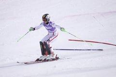 Kathrin Zettel - ski alpestre autrichien Image stock
