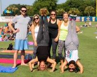 Kathryn Budig -- Yoga Instructor Royalty Free Stock Photography