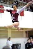 Kathryn Ho - fractura de la viga de balance de la gimnasia del templo Fotografía de archivo libre de regalías