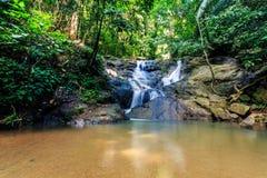 Kathu siklawa w tropikalnym lasowym Phuket, Tajlandia Fotografia Stock