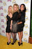 Kathy Hilton, Kim Richards, Kyle Richards, Richard Hilton Images libres de droits