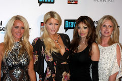 Kathy Hilton,Kim Richards,La Toya Jackson,LaToya Jackson,Paris Hilton,Toya,Jacksons Royalty Free Stock Photo