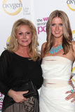 Kathy Hilton, Nicky Hilton Photo libre de droits