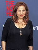 "Kathy Najimy. Actrtess Kathy Najimy arrives on the red carpet for the New York premiere of ""The Normal Heart, "" at the Ziegfeld Theatre in New York City on Stock Image"