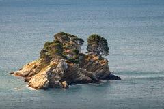 Katic. Pequeña isla en el mar adriático Imagen de archivo libre de regalías
