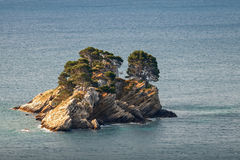 Katic. Small island in Adriatic sea Royalty Free Stock Image