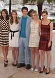 Katie Chang & Taissa Fariga & Israel Broussard & Claire Julien & Emma Watson Stock Photo