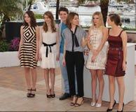Katie Chang & Taissa Fariga & Israel Broussard & Sofia Coppola & Claire Julien & Emma Watson Royalty Free Stock Photo