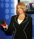 Katie Couric. Television personality and former anchor of CBS-TV Network's Evening News with , appears in a life-size wax image at Madame Tussauds in Royalty Free Stock Photos