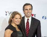 Katie Couric and Bob Woodruff Stock Images
