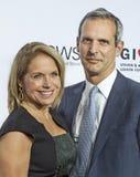Katie Couric et John Molnar Images libres de droits