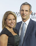 Katie Couric and John Molnar Royalty Free Stock Images