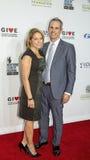 Katie Couric y John Molnar Fotografía de archivo libre de regalías