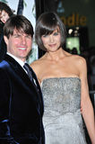 Katie Holmes, Tom Cruise. Tom Cruise & Katie Holmes at the Los Angeles premiere of her new movie Mad Money at the Mann Village Theatre, Westwood. January 9, 2008 Stock Photos