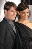 Katie Holmes, Tom Cruise. Tom Cruise & wife Katie Holmes at the AFI Fest 2007 opening night gala presentation of his new movie Lions for Lambs at the Cinerama Royalty Free Stock Photography
