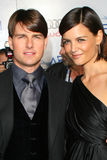 Katie Holmes, Tom Cruise royalty-vrije stock foto's