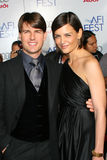 Katie Holmes, Tom Cruise Royalty-vrije Stock Foto
