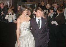 Katie Holmes, Tom Cruise Image libre de droits