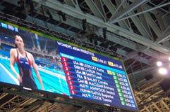 Katie Ledecky σε Rio2016 Στοκ εικόνα με δικαίωμα ελεύθερης χρήσης
