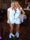 Brande Roderick,Katie Lohmann. Katie Lohmann and Brande Roderick at the 7th Annual Playboy Golf Scramble Championship Finals. Lost Canyons Golf Club, Simi Valley Stock Photography