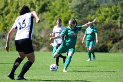 Katie McCarthy at the Women`s National League game: Cork City FC vs Galway WFC. May 12th, 2019, Cork, Ireland - Katie McCarthy at the Women`s National League stock photos
